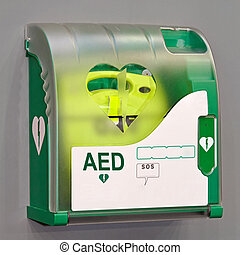 AED unit - Automated External Defibrillator portable ...