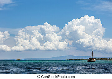 Aegean sea - Vourvourou beach, Chalkidiki, Sitonia, Greece