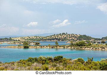Aegean sea - Vourvourou coast, Chalkidiki, Sitonia, Greece