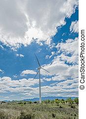 aeolic, molinos de viento, en, cataluña, españa
