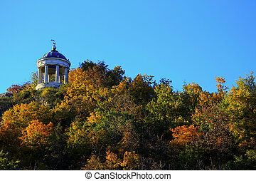 Aeolus Harp In Autumntime. Pyatigorsk Landmarks And Monuments