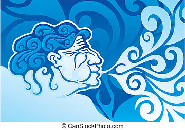 Aeolus, the ruler of the winds in Greek Mythology