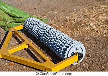 Aerator - Agricultural aerator used in a vineyard