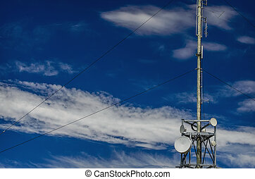 aereo, antenna, albero comunicazione, torretta radiofonica