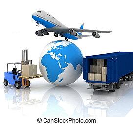 aereo di linea, globo, autoload