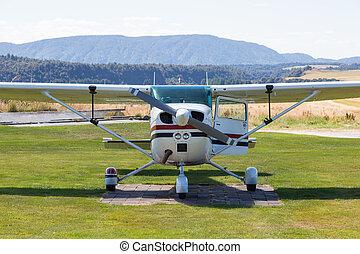 aereo, fronte, piccolo