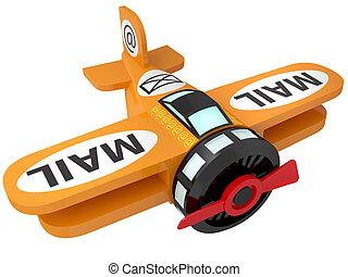aereo giocattolo, uno