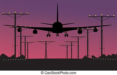 aereo, spento, volerci