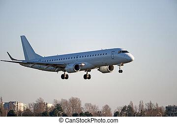aereo, vancouver, atterraggio