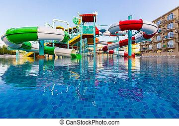 aeria, 水泳, 公衆, プール, 屋外, リゾート