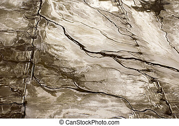 Aerial abstract. - Aerial of abstract landscape in Owens...