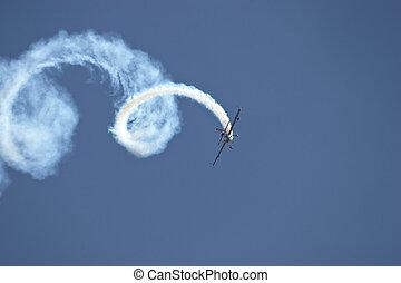 Plane doing loops