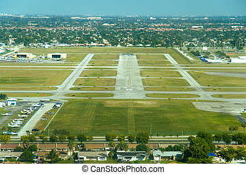 Aerial airport view