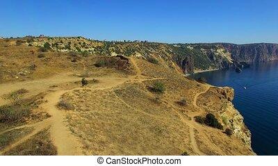 AERIAL. Amazing View Of Fiolent Cape In Crimea