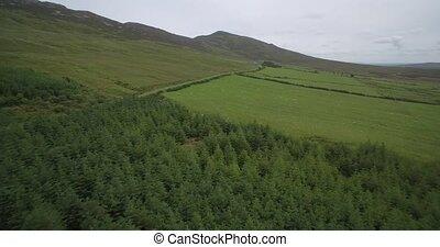 Aerial Around Croagh Patrick, County Mayo, Ireland - Native...