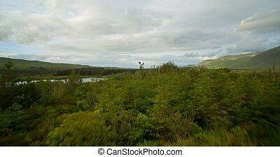 Aerial Around Tawnyard Lough, County Mayo, Ireland - Graded...