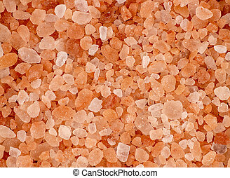 Aerial background macro texture of pink red himalayan salt