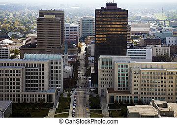 Aerial Baton Rouge, Louisiana, USA.