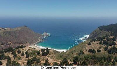 Aerial, Beach At Laguna Verde, Chile - neutral version -...