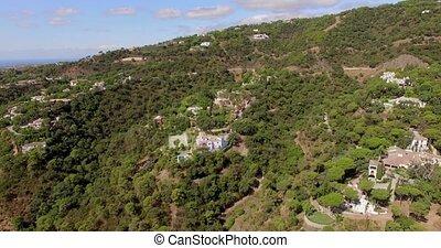 Aerial. Beautiful Panorama of Spanish Moundains in Andalucia