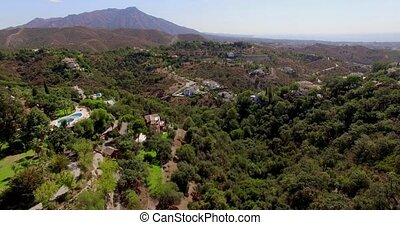 Aerial. Beautiful Panorama of Spanish Moundains