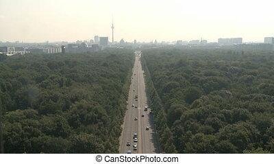 Aerial Berlin Cityscape