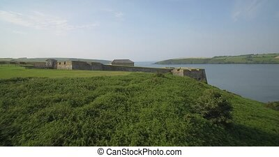 Aerial, Charles Fort, Kinsale, County Cork, Ireland -...
