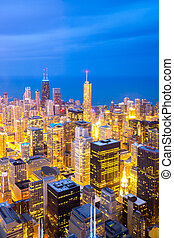 Aerial Chicago Downtown