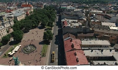Aerial City Lviv, Ukraine