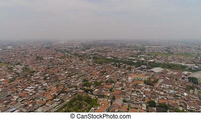 Surabaya capital city east java, indonesia - Aerial...
