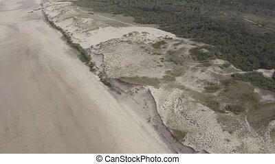 Aerial, Coast Of The Normandie, France, log version - Log...