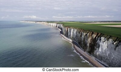 Aerial, Coast Of The Normandie, France, neutral version -...