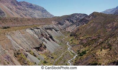 Aerial, Cordillera De Los Andes, Camino Embalse El Yeso,...