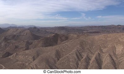 Aerial Desert Landscape Hills