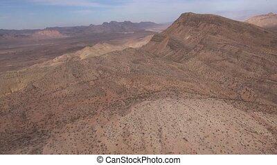 Aerial Desert Landscape Southwest