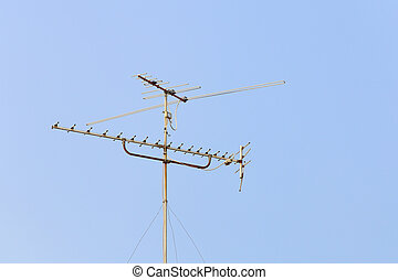 aerial digital television radio antenna with sky
