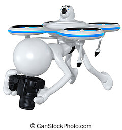 Aerial Drone Concept 3D Illustration