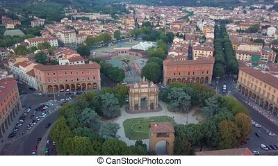 Aerial drone footage video - panoramic view of Florence
