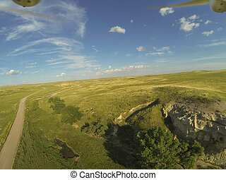 aerial drone photogrpahy - aerial view of Pawnee National ...