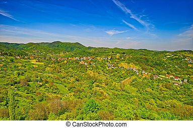 Outskirts of Zagreb - Aerial drone shot of the Outskirts of ...