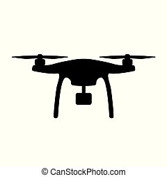aerial drone with camera icon