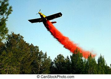Aerial firefighting - KIRYAT GAT - APRIL 23: A sky...