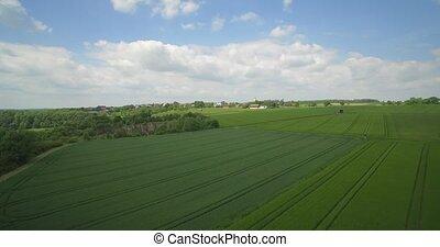 Aerial, Flight Above German Farmland, South Germany