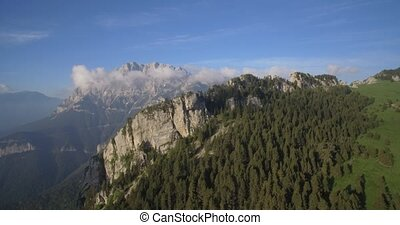 Aerial, Flight Along The Mountains Of Sierra Pedregosa In...