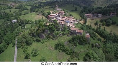 Aerial, Flight Around The Beautiful Mountain Village Esp?s,...