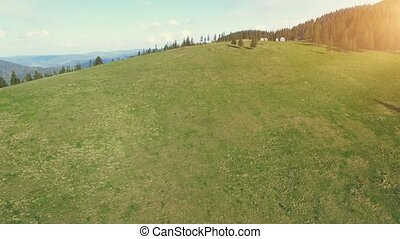 Aerial Flight in Carpathian mountains - Aerial View Drone...