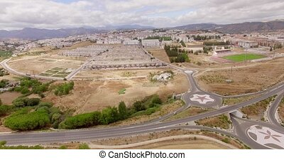 Aerial. Flight Over Ronda Suburb in Andalucia