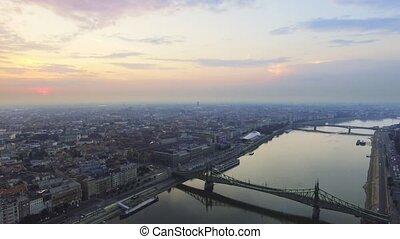 Aerial footage Budapest, Hungary.
