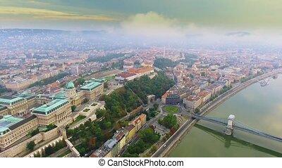 Aerial footage Budapest, Hungary. - Aerial footage Budapest,...