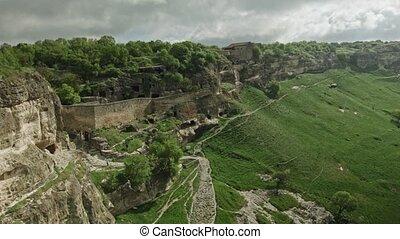 Chufut Kale ancient city - Aerial footage Chufut Kale...